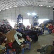 China's export of second-hand clothes factory
