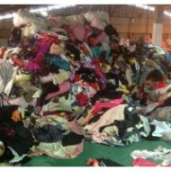 Guangzhou's second-hand clothes raw materials