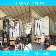 The second-hand  used clothes