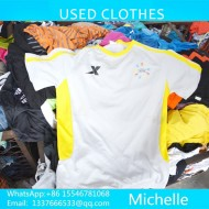 used summer clothes sorting