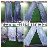 Fashion used jeans clothing