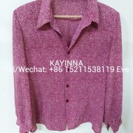 used polyester silk blouse