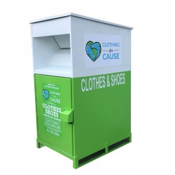used clothes recycling bin
