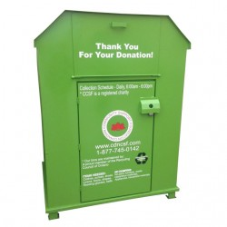 second hand clothes recycling bin