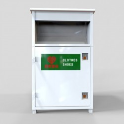 white clothes recycling bin for sale