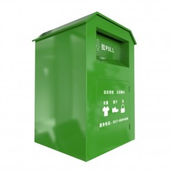 green color clothes recycling bin for sale