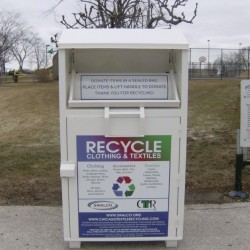 good quality old clothes recycling bin