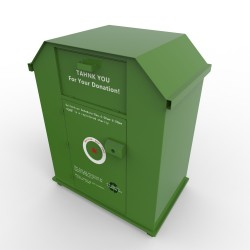2m clothes recycling bin