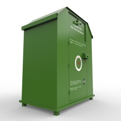 biggest clothes recycling bin