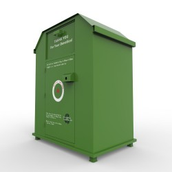 biggest clothes donation bin