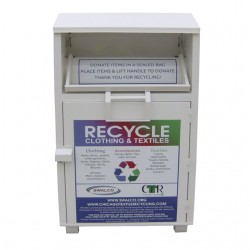 used clothes donation bin