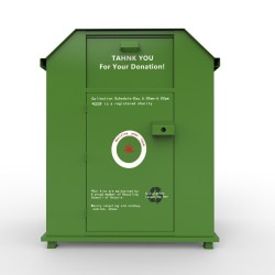 steel used clothes donation box
