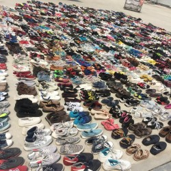 Large amount second hand fashion shoes for sales