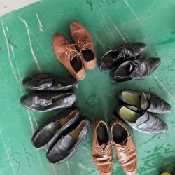 High quanlity second-hand men's leather shoes