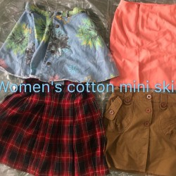 Women cotton mini skirt